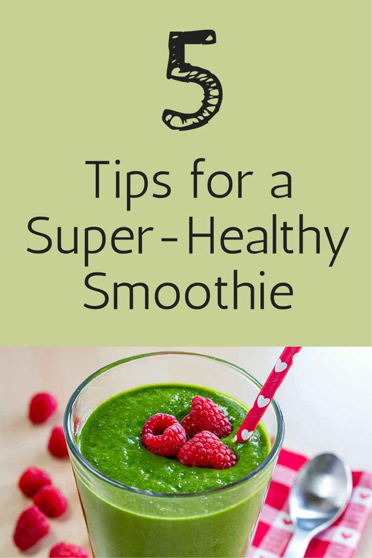 Super Healthy Fruit Smoothie Recipe — Dishmaps