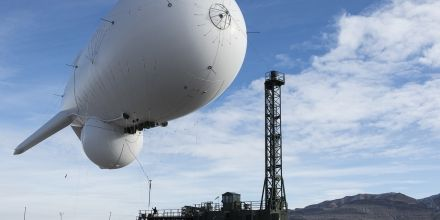An NSA surveillance blimp swept up shipping data over Long Island, New York, a classified document reveals.
