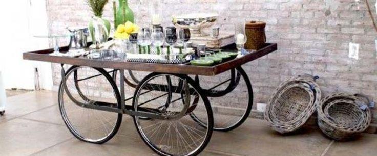 Tafeltje decoratie pinterest for Metalen decoratie fiets