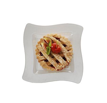 "Posh Party Supplies - Pretty Bone 6.5"" Dessert Disposable Plastic Wave Plate - 120 Plastic Plates, $55.07 (http://www.poshpartysupplies.com/elegant-dinnerware/elegant-plastic-wedding-and-paper-plates/pretty-bone-6-5-dessert-disposable-plastic-wave-plate-120-plastic-plates/)"