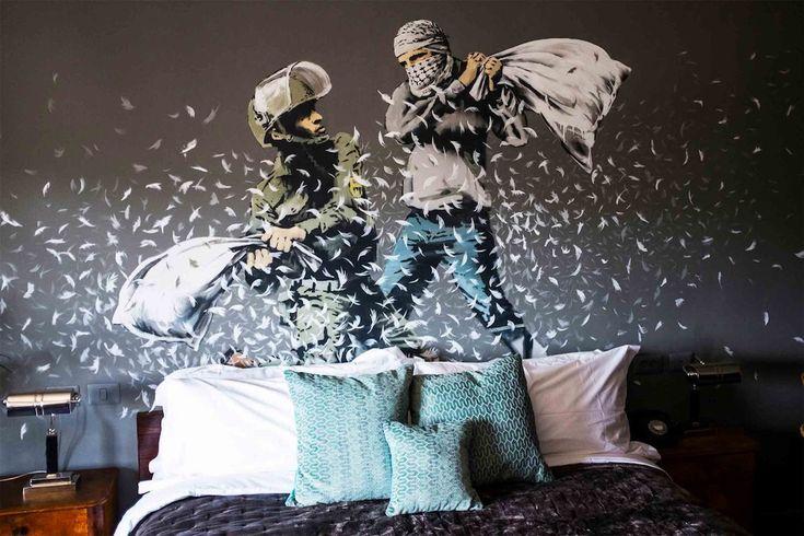 パレスチナ自治区内にオープンしたバンクシープロデュースのホテル