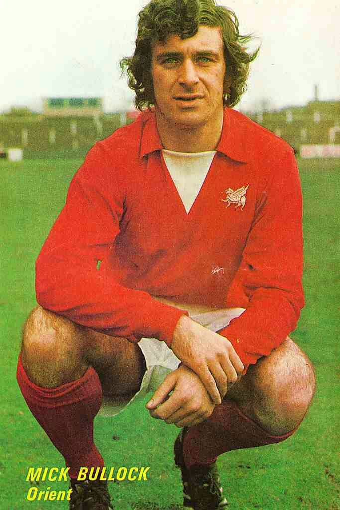 Mick Bullock of Leyton Orient in 1974.