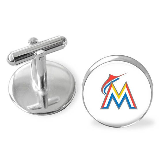 Father's Day gift, Miami Marlins cuff links, Groomsman gift, sporty gift, gift under 25, baseball cufflinks, gifts for men, pro baseball #MadeInUsa #GiftsForMen #DixieDazzle #FathersDayGift #cufflinks #StockingStuffer #BaseballCufflinks #SportyGift #GroomsmanGift #GiftUnder25