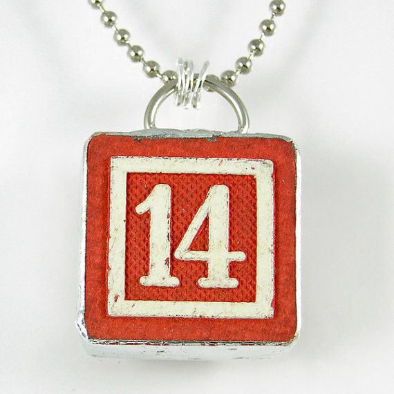 Number 14 Pendant by XOHandworks $20
