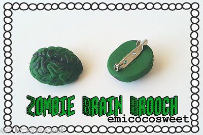 Brain Brooch pin novelty accessory brooch geeky nerd zombie brains in Jewellery & Watches, Fashion Jewellery, Brooches | eBay