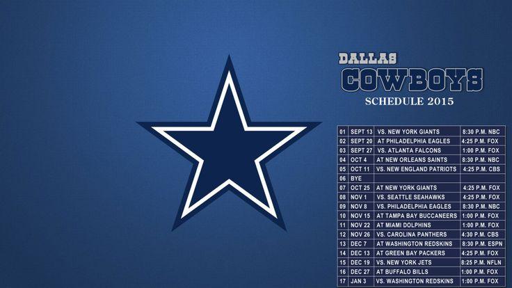 Dallas Cowboys Schedule 2015 wallpapers HD 1080p for desktop (1920X1080)