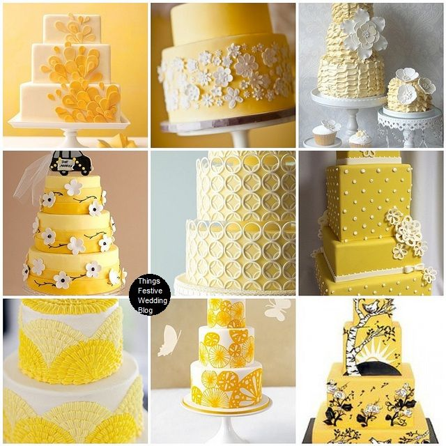 152 best images about Spring Wedding Themes on Pinterest  ~ 141838_Yellow Cake Decoration Ideas