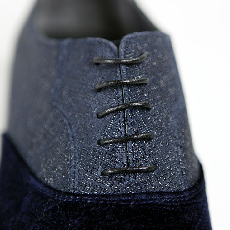 Handsome blue blend, Distinguished lace -  004 Rina's Couture - #Men's #Velour & #Leather #Shoes  $395 or Make an Offer   http://www.rinastore.com/004-rinas-couture-shoes:-blue/dp/5909  Rina's Boutique's own brand. Made in #Italy.