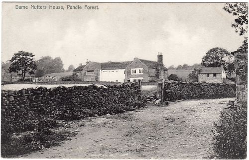 Postcard Pendle Witch Roughlee Hall