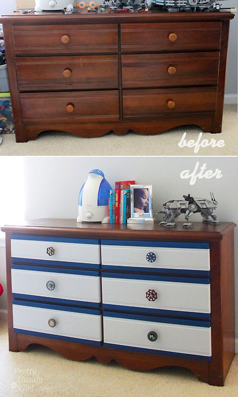 An Easy Way to Add Color to a Dresser {Lowe's Creative Idea}