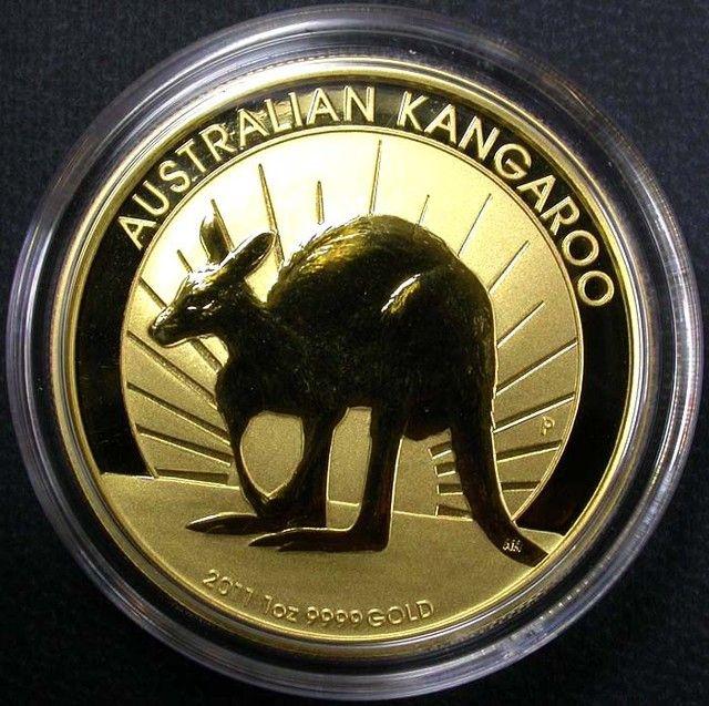 2011 Kangaroo One Ounce Gold Coin BU