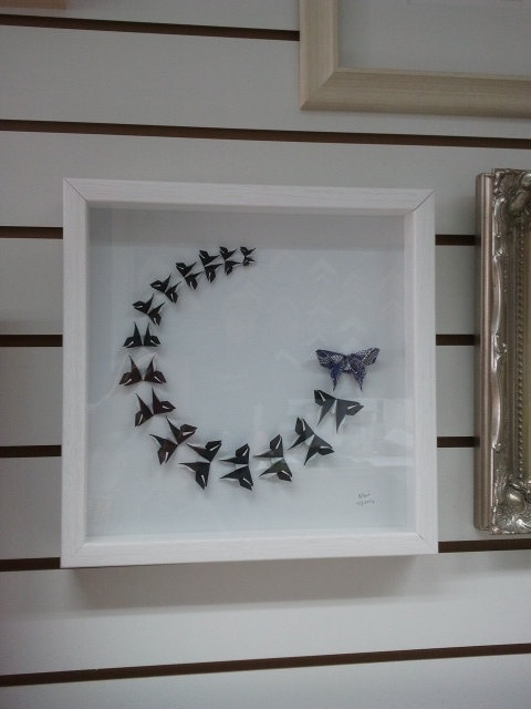 3d Wall Art For Contemporary Homes: 3D Butterfly Wall Art Framed Origami Art By Meiorigami On