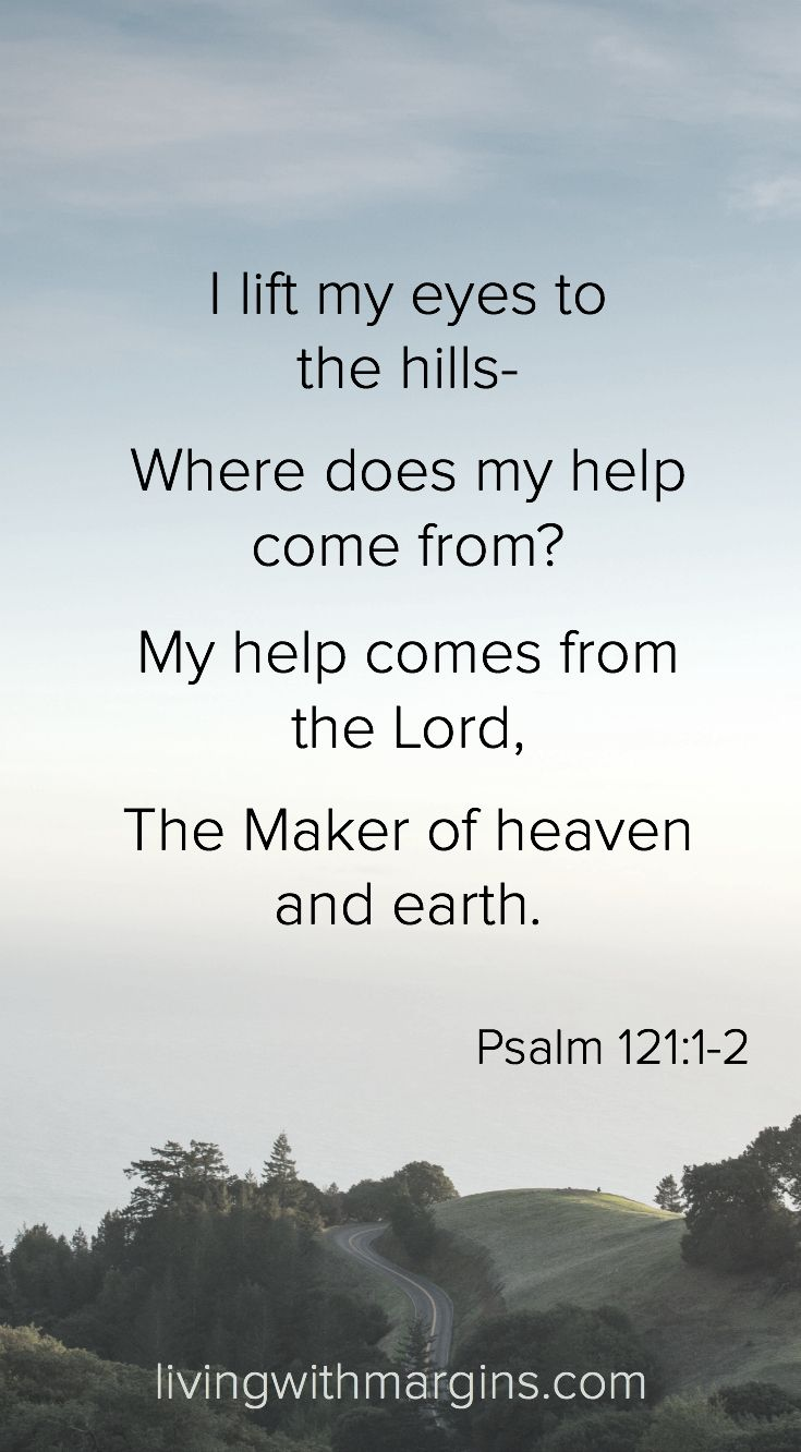 I lift my eyes to the hills Psalm 121:1-2