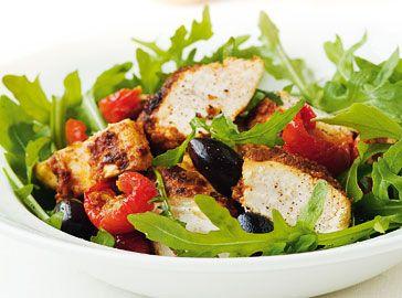 Mediterrane kipsalade - Salades & bijgerechten - Saclà recepten    Mediterranean Chicken Salad