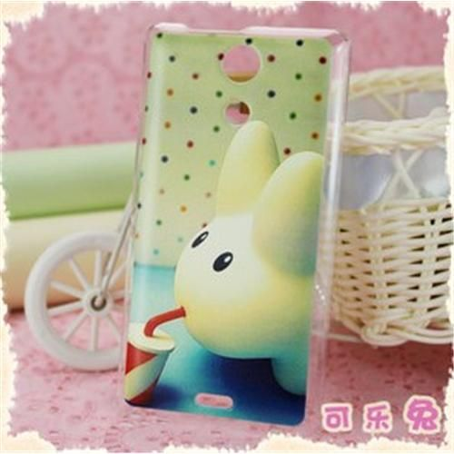 COSKIIZ Brightly Fine Coke Rabbit PC Painted Series Hard Case For Sony Xperia ZR