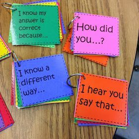 Number Talks (math talks) basics with questioning and conversation strategies. Free!