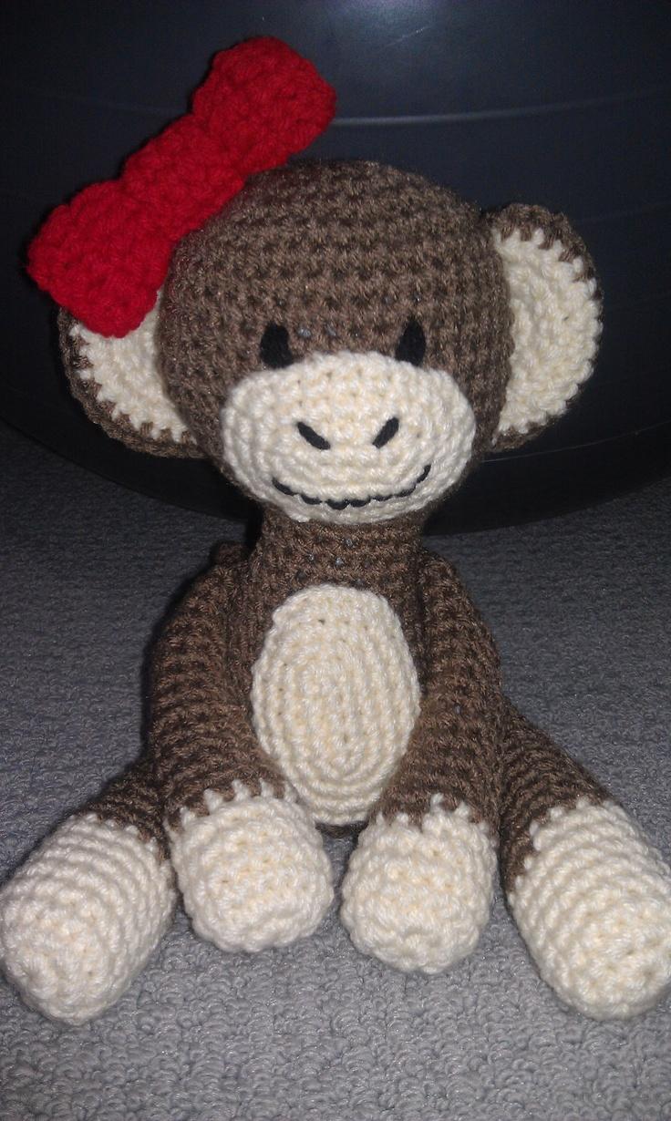 Monkey Girl Crocheted Stuffed Animal by ThoseNeedfulThings ...