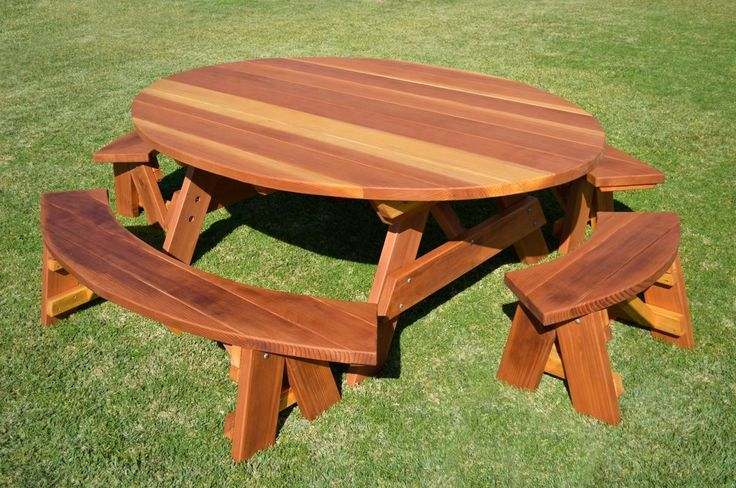 best 25 wooden picnic tables ideas on pinterest. Black Bedroom Furniture Sets. Home Design Ideas