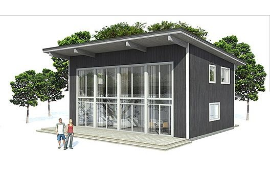 Slanted roof summer house pinterest house plans the for Slanted roof house plans