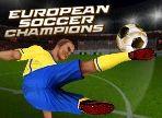 Campeones del fútbol europeo - Paso a la cancha de fútbol en el estadio completamente lleno para anotar el gol de la victoria para ser coronado como el campeón del fútbol europeo. Será un juego desafiante hasta el último silbato