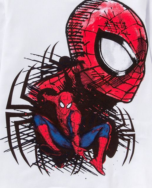 Camiseta de niño Disney de Spiderman en blanco