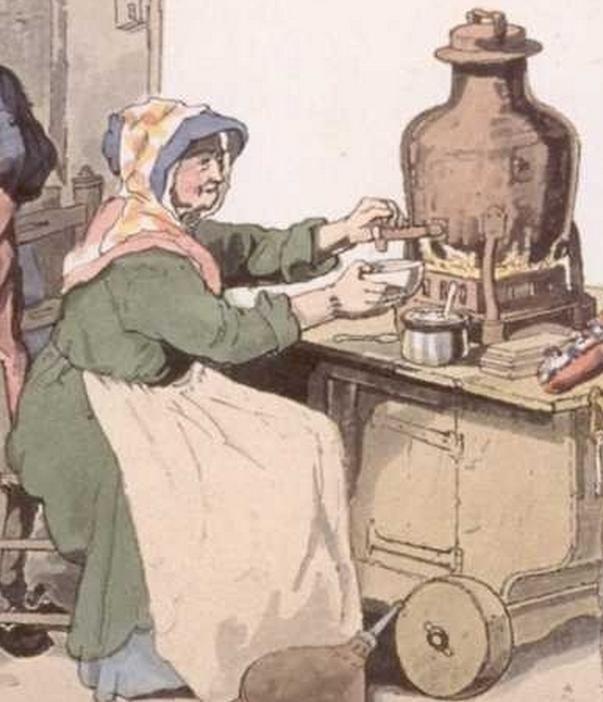 1808   Woman street vendor selling salop.