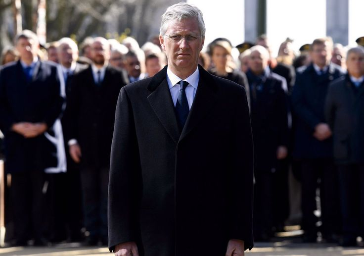 Belgian Royal Palace (@MonarchieBe) on Twitter: March 22, 2017-King Philippe led the Belgium government in memorializing those who died in the Belgian terror attacks one year ago