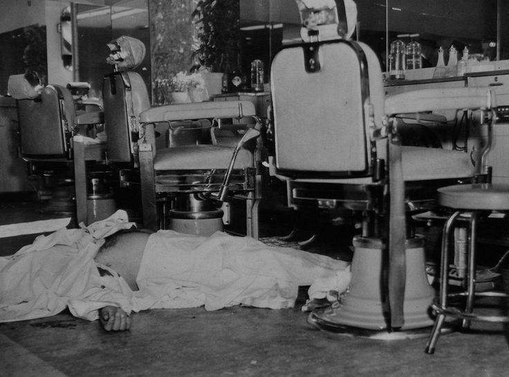 Albert Anastasia, 55 old Murder Inc. mob, was shot to death  Park Sheraton Hotel, Seventh Ave. and 55th St.