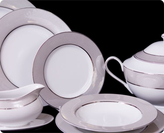 Fine porcelana vajilla de porcelana de platino cocida a - Vajilla de porcelana ...