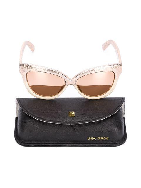 Linda Farrow '38' sunglasses