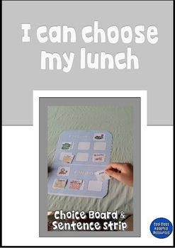 """""""I can choose my lunch"""", for students with Autism/Special Needs.A great! way for students to choose their lunch and snacks throughout the day. These visuals are of real food so they can be easily identified by your students, you can use them with the handy choice board for a stress free lunch/snack time.includes:-Choice board and 96 food symbols"""