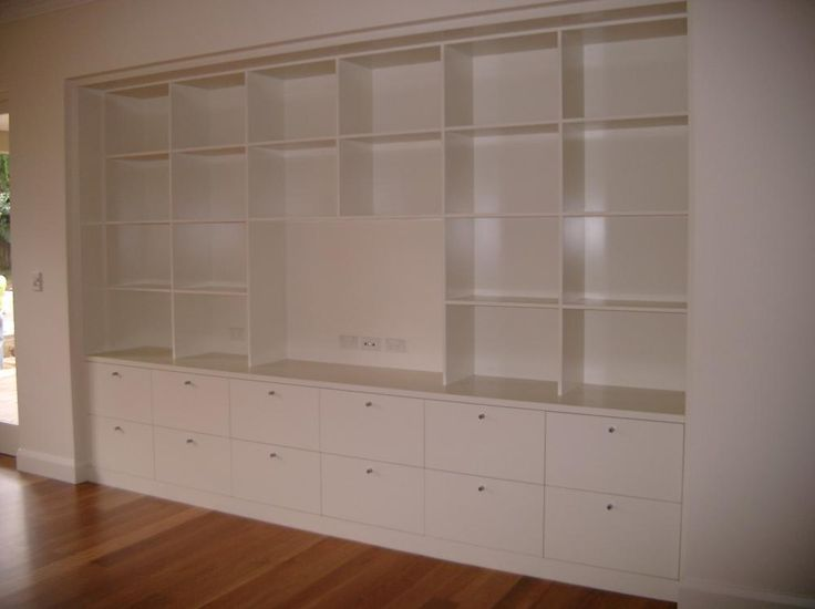 Polyurethane Built In Entertainment And Shelving Display