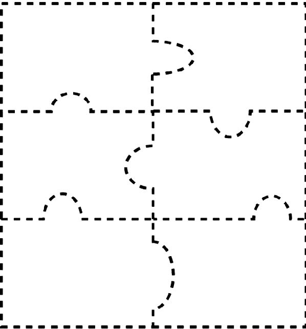 10 best Puzzle piece template images on Pinterest Puzzle piece - blank puzzle template