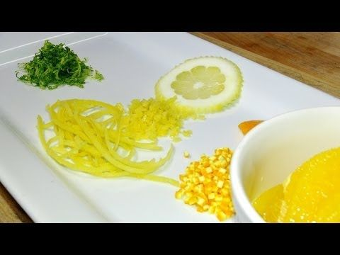 Escoffier Online's Chef Thomas walks through the various zesting techniques and tools that can be used when zesting citrus fruit. http://www.escoffieronline.com/how-to-zest-citrus-fruits/