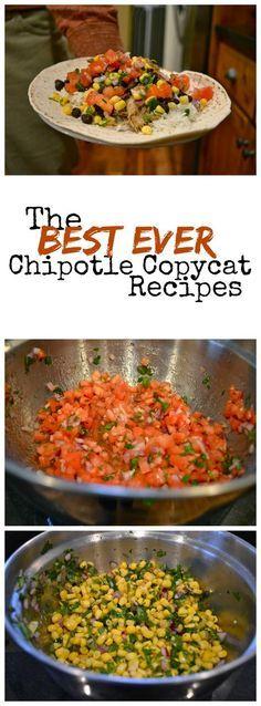 The BEST Chipotle copycat recipes: carnitas, corn salsa, mild salsa, rice