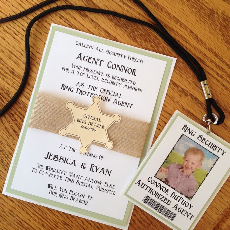 21++ Ring security wedding sign info