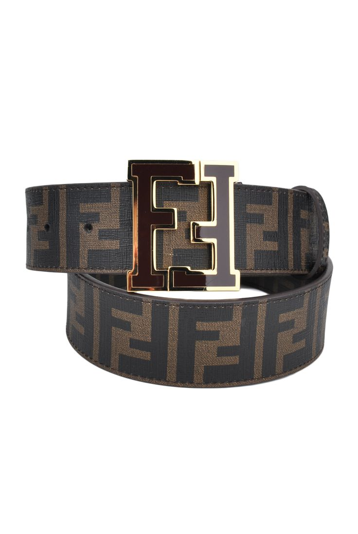 Fendi Brown Zucca College Belt  Designer Clothing, Discount Designer Clothing, Fashion, Style,