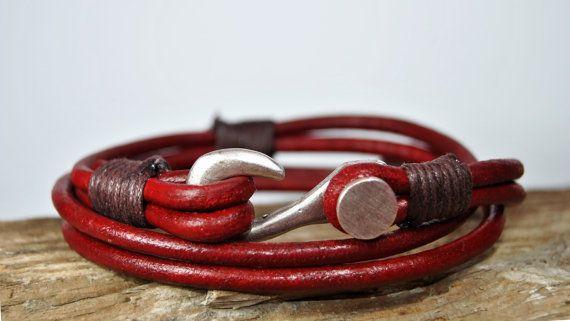 FREE SHIPPING  Men bracelet leather men bracelet by FosforStore, $28.00