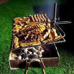 The most common and festive means of food preparation in South Africa is the braai. Comparable to a cook-out in America, throwing a braai is how communities connect and families celebrate. Usually several types of meats are prepared on the grill, and served with a variety of side dishes.