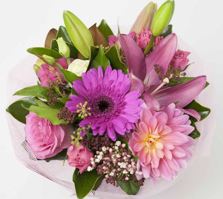 Posy Pink http://www.expressionsfloral.co.nz/buy-flowers/mothers-day/pink-Posy-flowers-florist-hamilton #pink #posy #mothersday
