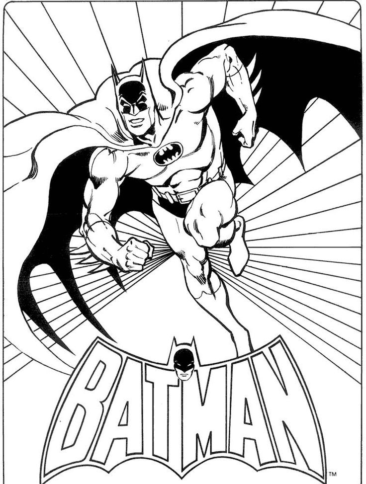 batman coloring book pages