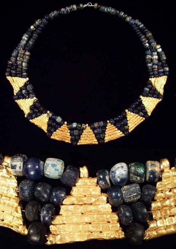 Ostrogothic Gold and Glass Necklace, Second Half of VIc. to First Half of VII c. A.D.