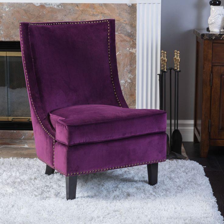 Christopher Knight Home Carole Velvet Single Sofa Accent Chair By  Christopher Knight Home