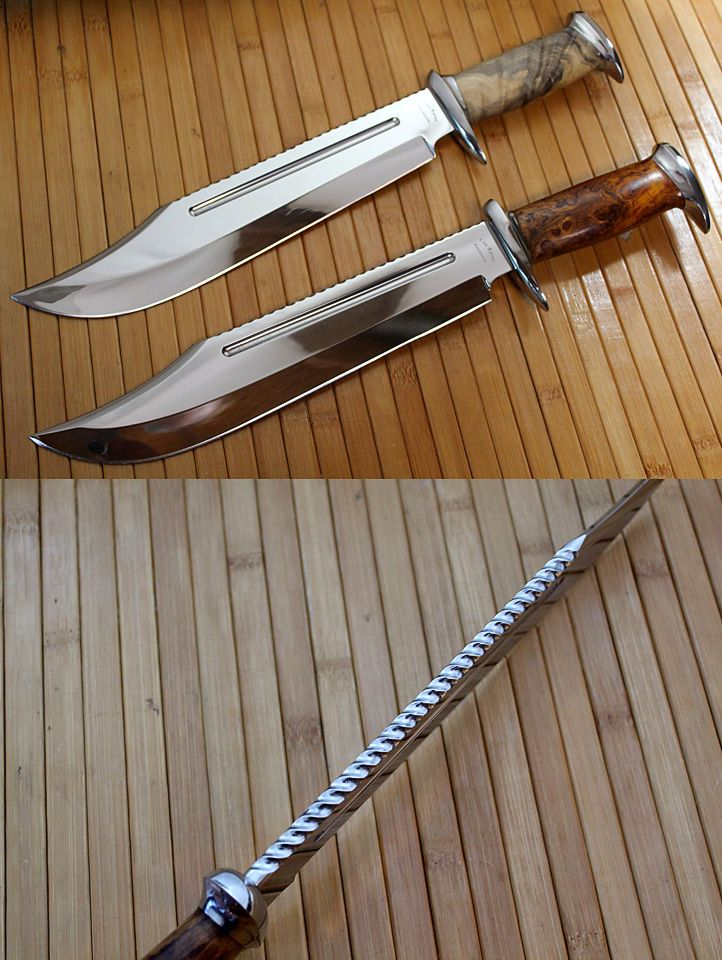 Dundee style bowies by Gill Cote (www.coteknives.ca)