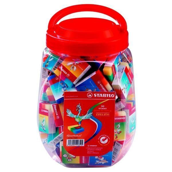 ΓΟΜΕΣ STABILO. Γόμα σχολική σε τετραγωνη μορφή για εύκολο σβήσιμο, ιδανική για μολύβι, μαλακή που δεν αφήνει μουτζούρες. Σε 6 παιδικά σχέδια και χρώματα.