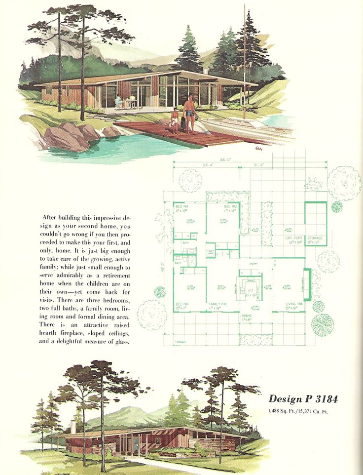 291 best images about mid century modern floor plans on for Mid century modern blueprints