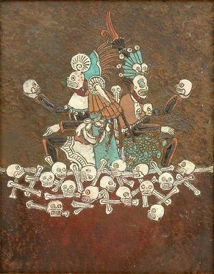 El señor Mictlantecuhtli y la señora Mictecacihuatl, dioses de la muerte.