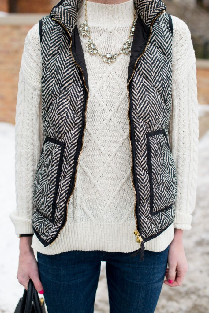 J.Crew Herringbone Vest | Kelly in the City: