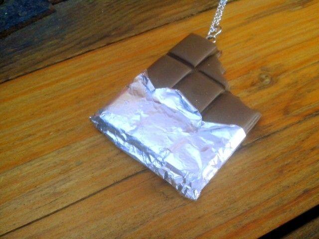 Polymer clay bitten chocolate