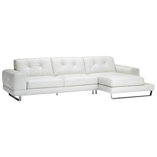 B636 2 Piece Contemporary Leather Sectional With RAF Chaise By Natuzzi  Editions   Baeru0027s Furniture